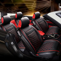 Car Seat Cover PU Leather 4 seasons styling Fashion Automotive Seat Covers Auto Interior Decoration Fit Most Car Covers 5PCS/SET