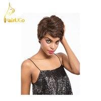 HairUGo Hair Straight Human Hair Bob Short Human hair Wigs with Baby Hair Short Wigs For Black Women Non Remy 1B 2# 4# H.VERA