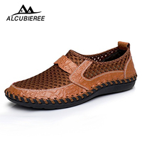 Men Casual Shoes Leather Breathable Comfortable Sports Summer Brand Sapato Masculino Flats Male 2018 Hot Sale