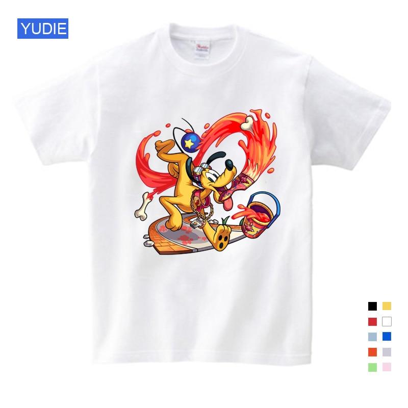 O Interesse das crianças Mickey Camisa Meninos/Meninas Mickey Mouse-de manga curta T-shirt Mickey Roupas de Verão Lazer para Grande crianças