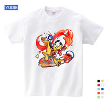 Childrens Interest Mickey Shirt Boys / Girls Summer Leisure Mouse Short-sleeved T-shirt  Clothes for Big Kids