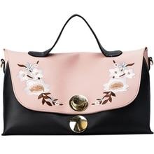 JUILE New embroidery Womens handbag brand design lock buckle ladies bag Messenger large capacity Female wild shoulder Bag