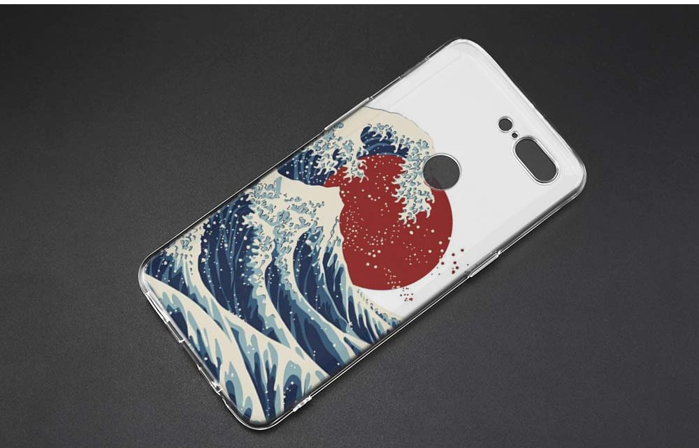 KMUYSL Merry Go Round Planet Space Alien sky TPU Ultra Thin Transparent Soft Case Cover for One Plus Oneplus 5T 6