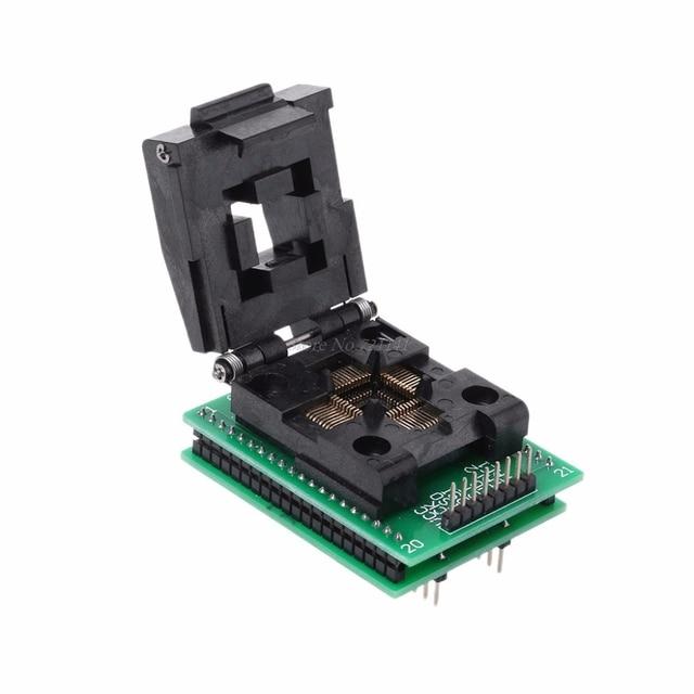 TQFP44 ~ DIP40 IC 소켓 STC 프로그래밍 어댑터 TQFP44 턴 DIP40 쓰기 시트 Dropship