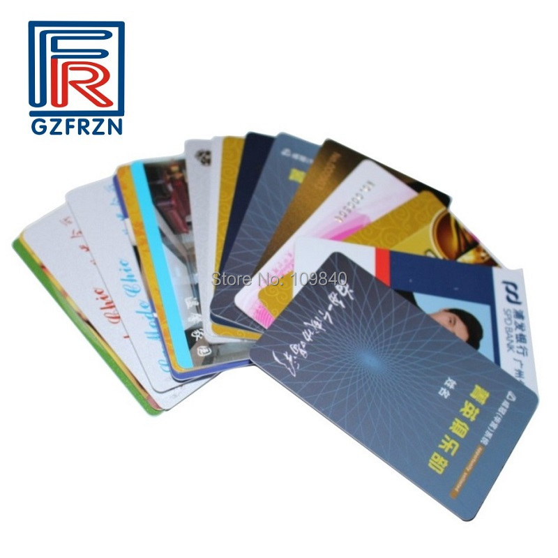 100pcs/lot Customized Printing 13.56mhz RFID Pvc Card With S50 F08 Chip For Access Control