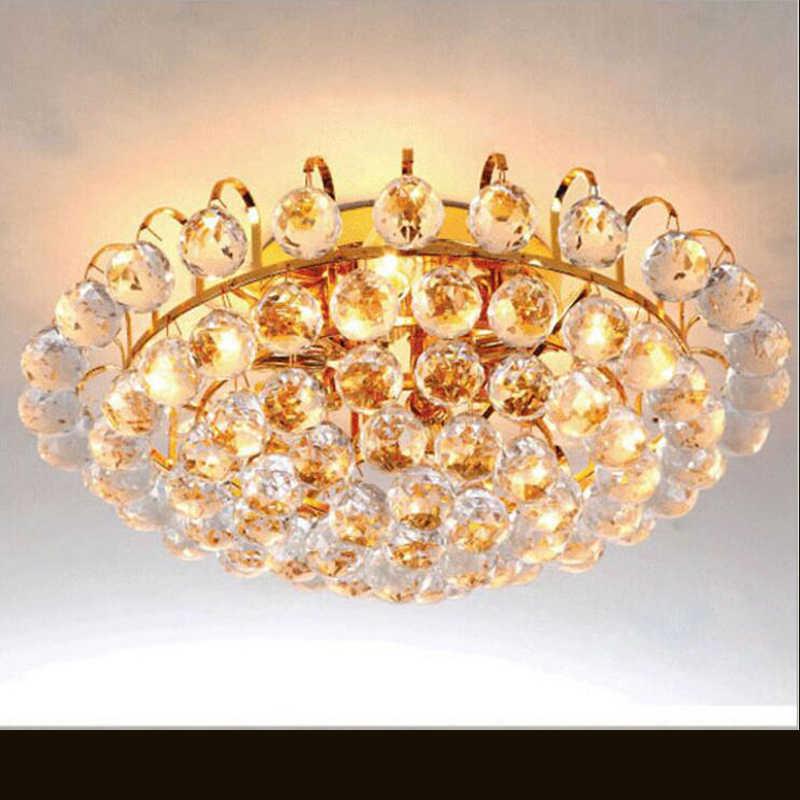 ห้องนั่งเล่นแสงโรงแรมโกลเด้นหลอดไฟแบบดั้งเดิมLEDคริสตัลโคมไฟเพดานledโคมไฟโกลเด้นโคมไฟเพดาน