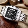Megir marca de luxo relogio masculino relógio negócio relógio de quartzo dos homens do cronógrafo dos homens de aço completa relógios relógio militar do exército