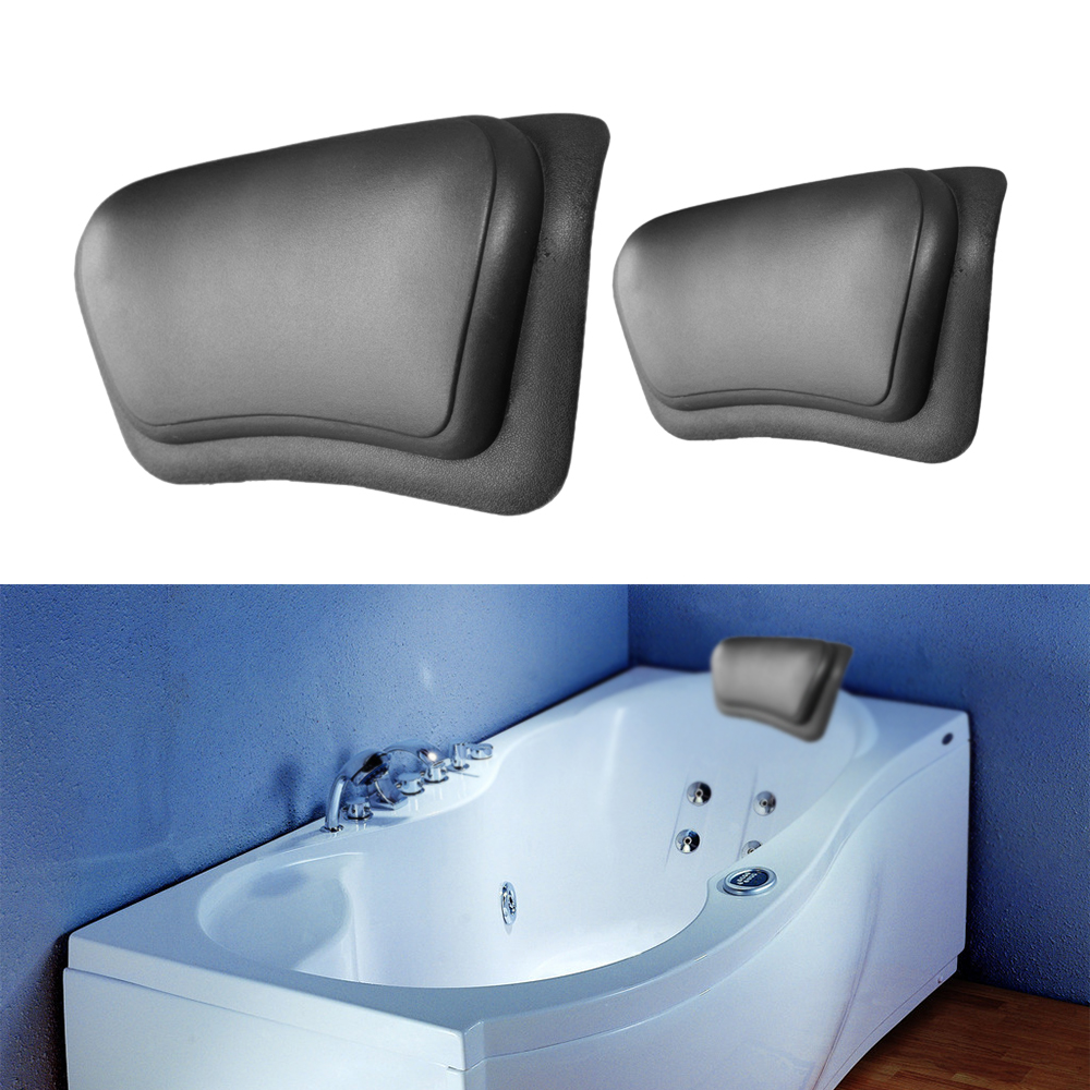 Bathtub backrest headrest - Bathroom Supplies Waterproof Bathtub Spa Pillow With Suction Cups Head Neck Rest Home Garden Pillows