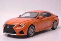 1:18 литья под давлением модели для Lexus rcf оранжевый купе сплава игрушечный автомобиль миниатюрный коллекция подарок RC F