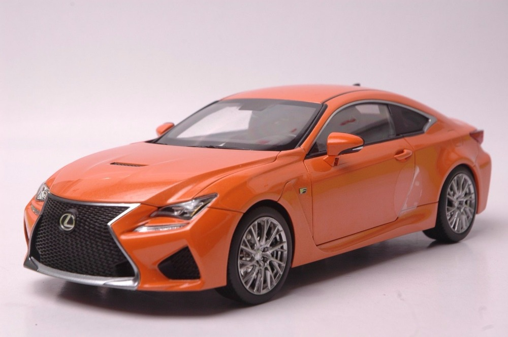 1:18 Diecast Model for Lexus RCF Orange Coupe Alloy Toy Car Miniature Collection Gift RC F rcf evox 12