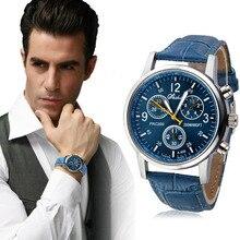 Feitong relogio masculino Lujo PU de Cuero Relojes Hombres Reloj de Cuarzo Militar reloj de pulsera para Hombres Horas Reloj relojes hombre 2017