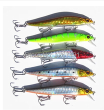 4 pcs lot colorflul Minnow Fishing Lures Plastic Hard baits with Sea Hooks Carp Fishing 14cm