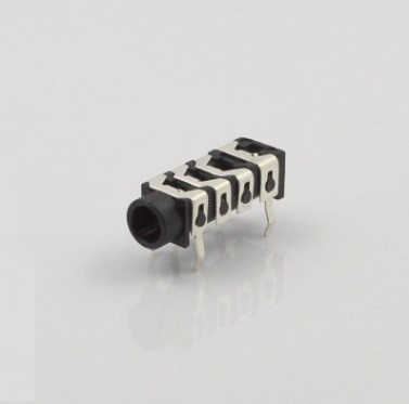 цена на 10pcs Phone Jack 3.5mm 6 contacts 4 conductors stereo audio socket through hole right angle DC30V 0.5A for 4 poles audio plug