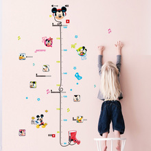 Disney Cartoon Mickey Minnie Height Chart Ruler Wall Stickers For Kids Rooms Wall Art Decor Height Measure Decals Diy Posters цена