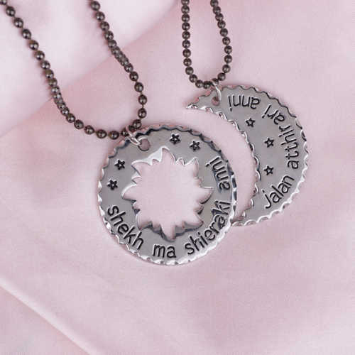 029100ad28 ... His And Hers Khal/Khaleesi Game Of Thrones Necklace Moon Of My Life ,my  ...