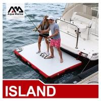 Aqua marina Inflatable air platform inflatable island