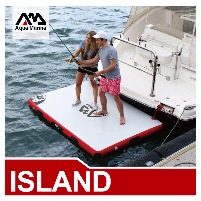 Aqua marina Inflatable air platform inflatable island go play