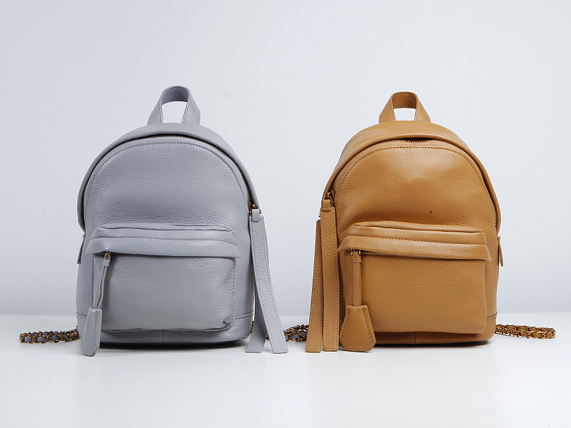 EMMA YAO leahter women backpack fashion korean cow leather mini backpack small leather backpack