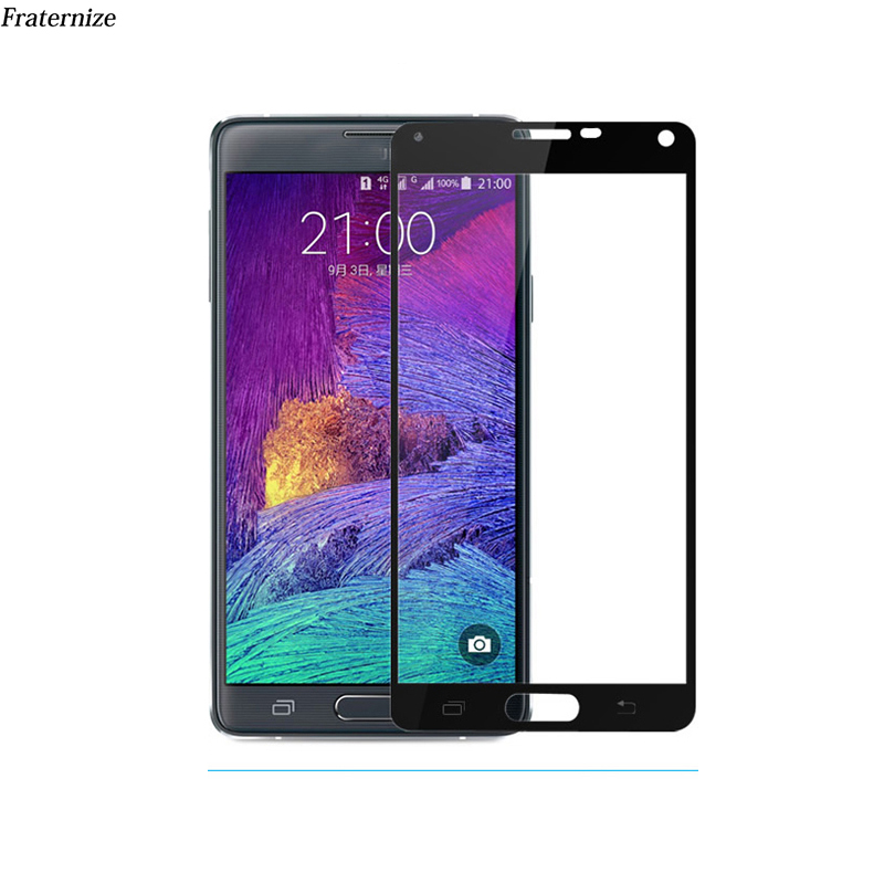 Full Screen Protector Tempered <font><b>Glass</b></font> For <font><b>Samsung</b></font> Galaxy Note <font><b>3</b></font> Note 4 Note 5 <font><b>glass</b></font> Full Cover Coverage Screen Protection Film 9H image