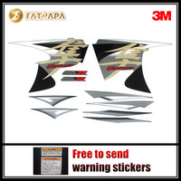 motorcycle Fairing Fuel tank Body stickers FOR SUZUKI Hayabusa GSXR1300R 2014 Black and white