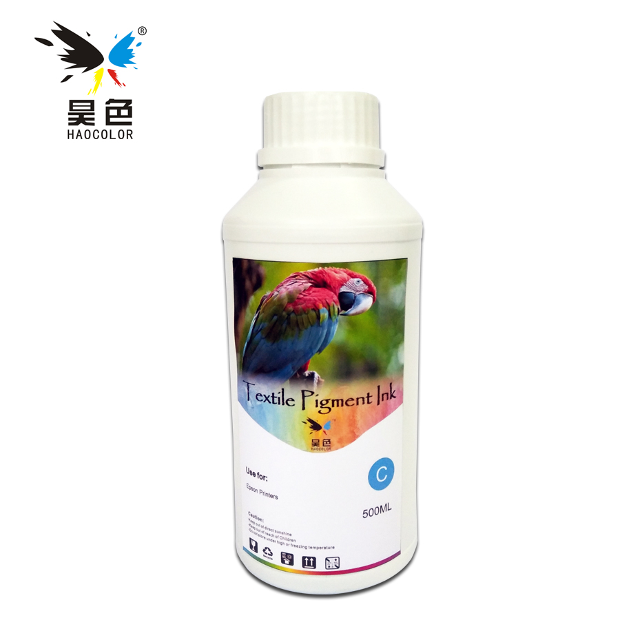 500ML Cyan Color Digital Textile pigment Ink ForFor Epson Stylus 1390 1400 1410 1430 1500W 500ml 5bottles set led uv ink for epson 1390 1400 1410 1430 1500w r280 r290 r330 l800 l1800 uv printer ink bk c m y white