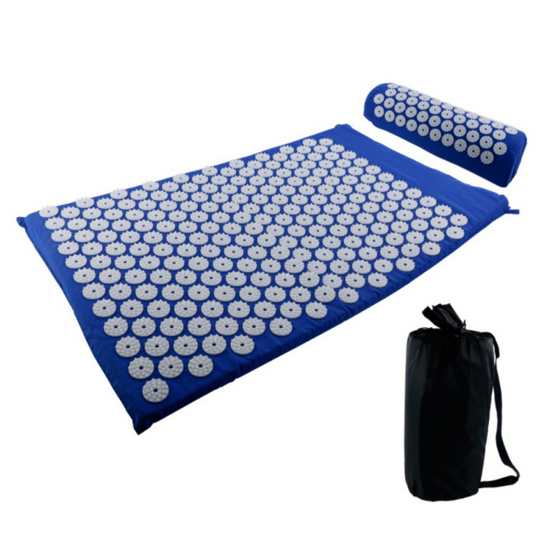 Acupressure massages mat which relieves stress and body pain including back neck and foot 3