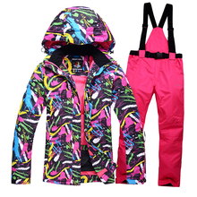 High quality Women's ski suits Men couple clothes thick warm ski jacket and pants windproof waterproof outdoor sports thicker