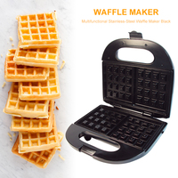 220V Stainless Steel Waffle Maker Electric Waffle Machine Toaster Non stick Household Bubble Egg Cake Oven Breakfast Machine