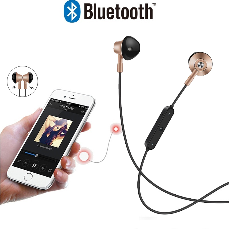 Bass Wireless Earphones With Mic Magnetic In Ear Bluetooth Earbuds Headset Earphone Magnetic Earpiece For Mobile Phone for honsigogo metal bluetooth earphone magnet wireless in ear earpiece sport stereo music earphones with hd mic for mobile phones