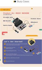 Image 4 - Для Micro: Набор бит Тинкера, разделительная доска, сенсорная панель Octopus для обучения в классе и начинающих DIY (без микробитной доски)