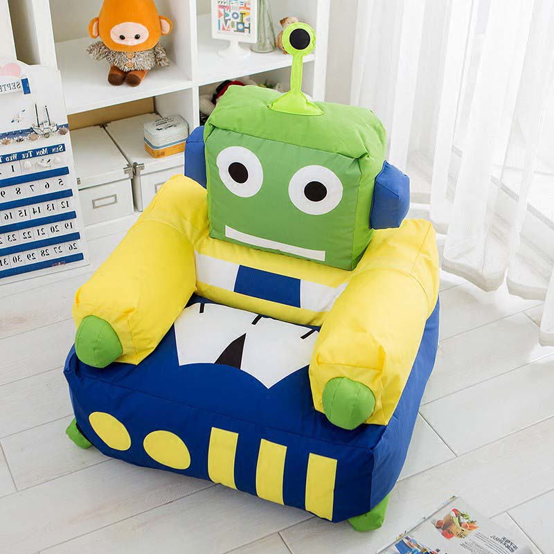Chpermore Children robot Bean Bag lazy sofa Comfortable Living room leisure Bean bag sofa Students/Kids tatami chairChpermore Children robot Bean Bag lazy sofa Comfortable Living room leisure Bean bag sofa Students/Kids tatami chair