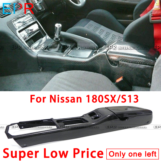 For Nissan 180SX/S13 Carbon Fiber Real Center Console RHD  Interior Accessories|Interior Door Panels & Parts|   - title=