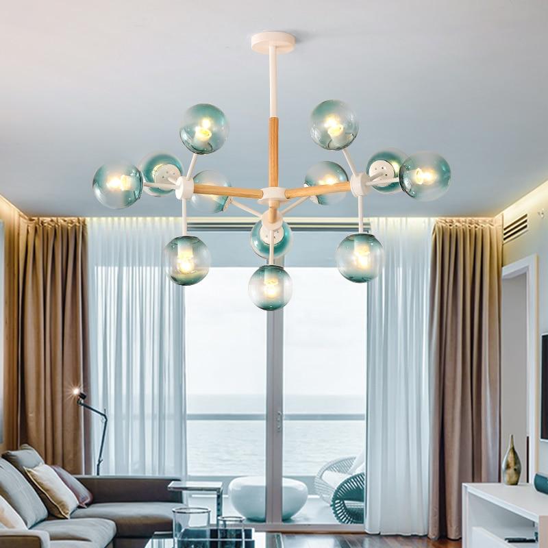 Américain moderne pendentif lumières industriel créatif Style rustique rond verre boule lampes pendentif lampe Bar café Restaurant fer e27