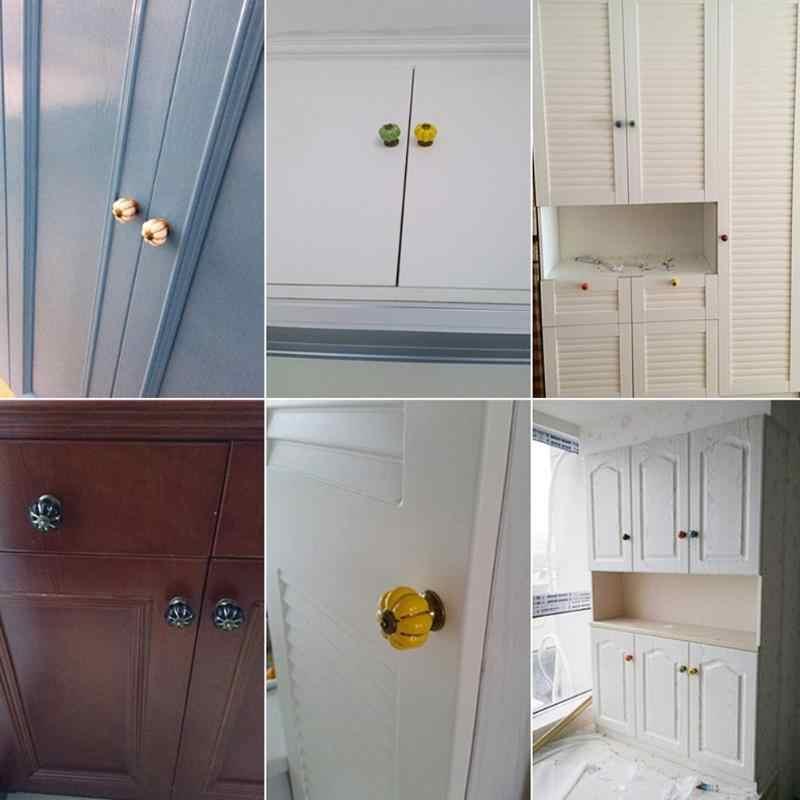 6 สี VINTAGE เฟอร์นิเจอร์มือจับลูกบิดประตูเซรามิคฟักทองตู้จับเฟอร์นิเจอร์ตู้ลิ้นชักห้องครัวลูกบิดประตู