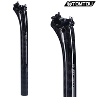 TOMTOU Carbon Fiber Bicycle Seatpost 12K Glossy Gray 27 2 30 8 31 6 350mm Cycling