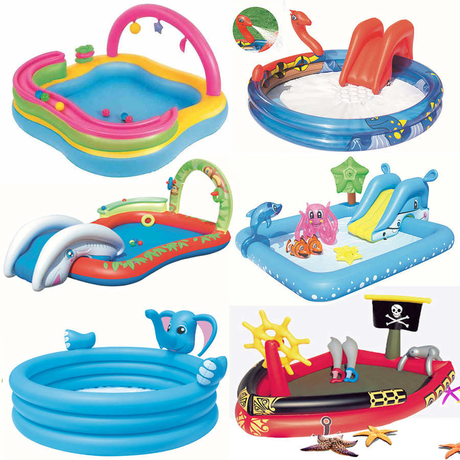 14 styles big size cartoon inflatable baby swimming for Large size inflatable swimming pool