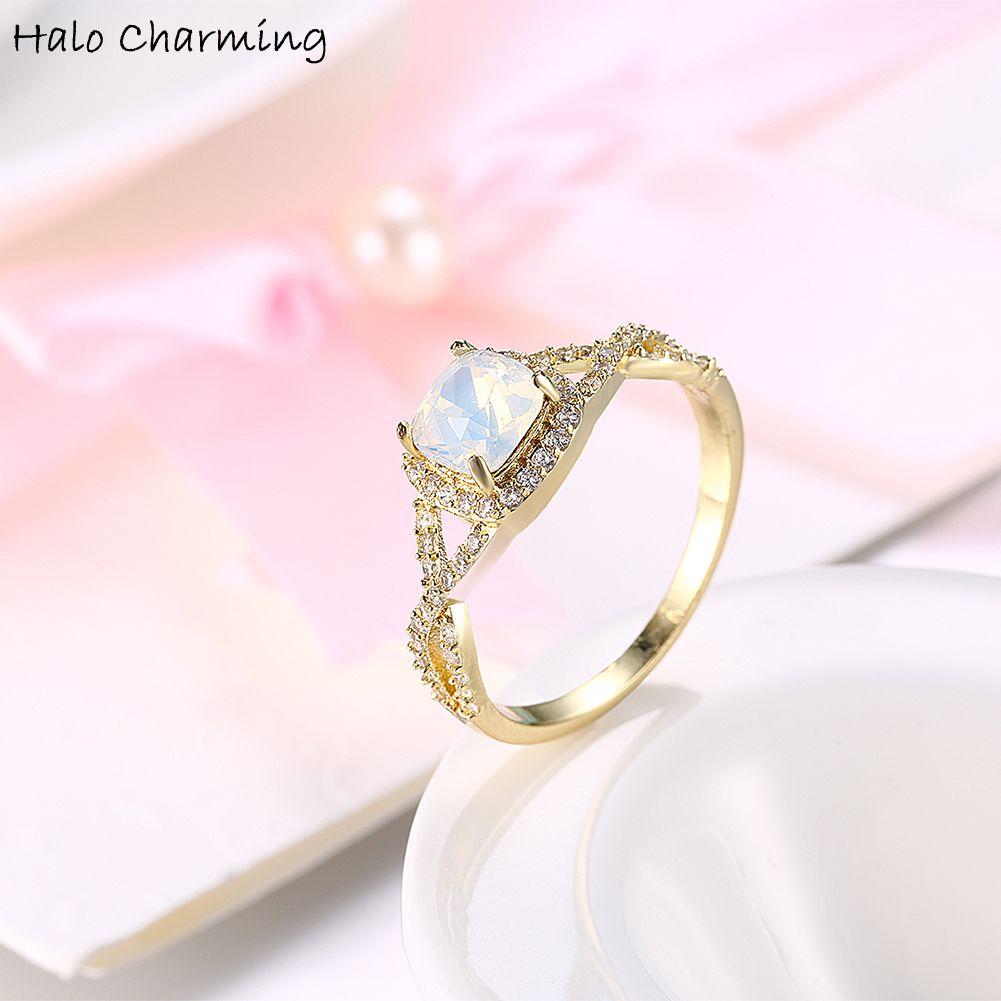 Aliexpress.com : Buy 1 Piece Gold Color Cross Zircon Rings ...