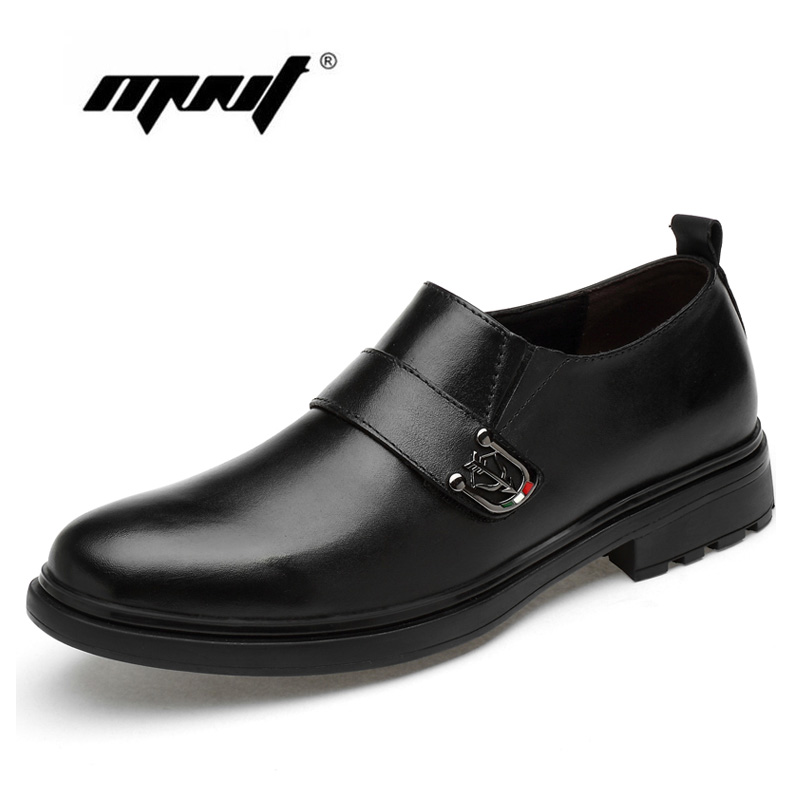 Breathable Plus Size Dress Shoes Men Genuine Leather Wedding Oxford Formal Business Flats Dropshipping