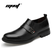 Breathable Plus Size Dress Shoes Men Genuine Leather Wedding Shoes Oxford Formal Business Flats Shoes Dropshipping стоимость