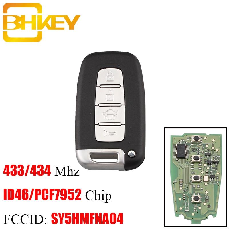 BHKEY Remote-Key-Keyless Pcf7952 Chip Optima Kia Forte Smart SY5HMFNA04 433mhz 4-Button