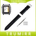 22 мм Натуральная Кожа Часы Ремешок + Инструмент для Pebble Время/стали Asus ZenWatch 1 2 22 мм мужская WI500Q WI501Q Ремешок браслет