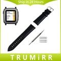 22mm de Cuero Genuino Reloj Band + Herramienta para Pebble Tiempo/asus zenwatch 1 2 22mm hombres de acero wi500q wi501q correa para la muñeca pulsera