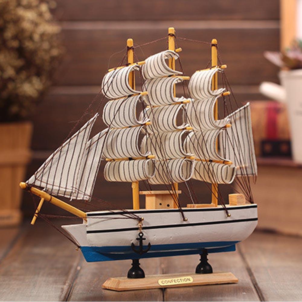 cm pino martimo nutico velero modelo de barco de madera decoracin del hogar del escritorio