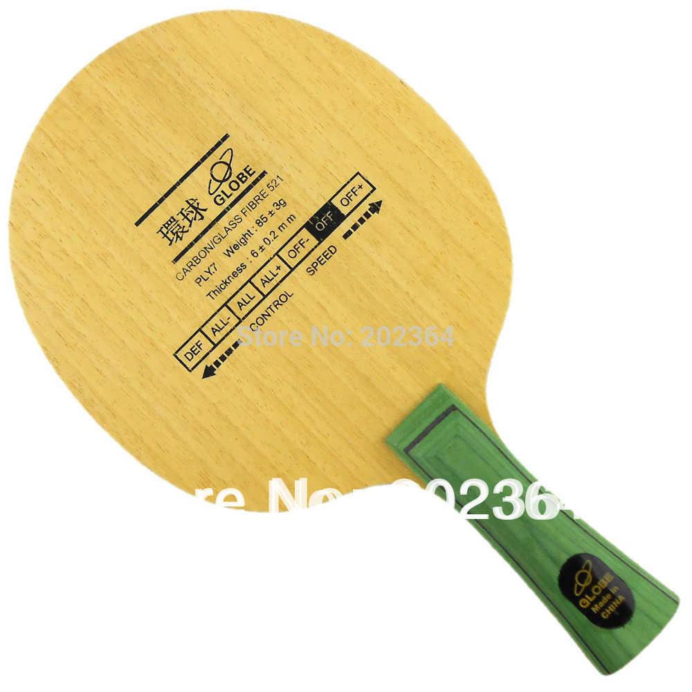 Globe Carbon / Glass Fibre 521 Shakehand OFF Table Tennis Blade for PingPong Racket