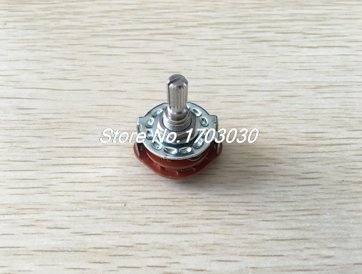 Channel Rotary Selector Switch 6 Pins 2 Pole 2 Position uxcell 6mm shaft 2 pole 2 position 2p2t band channel selector rotary switch