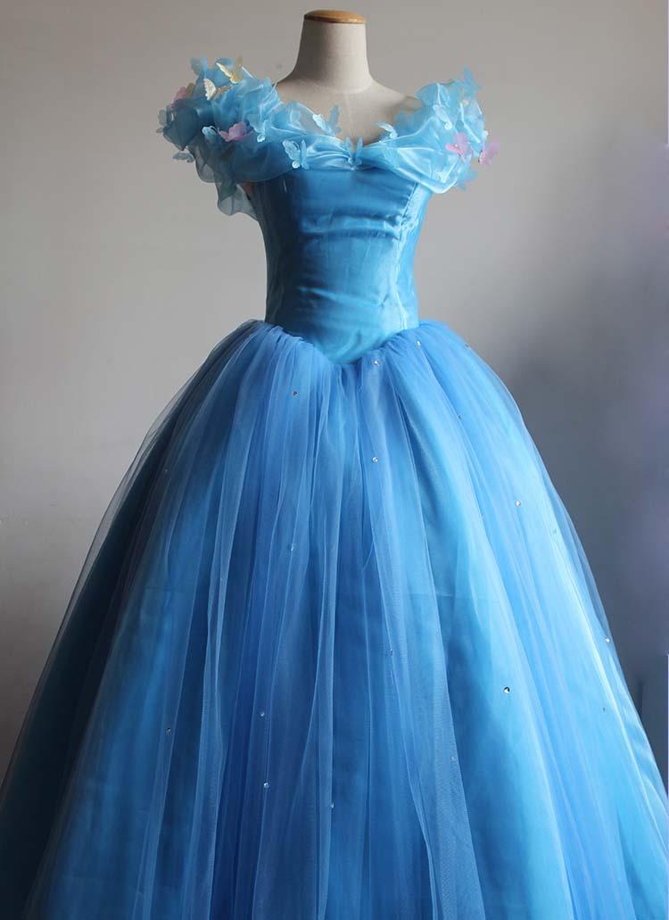 Անվճար առաքում Մոխրոտի արքայադուստր Հագուստը շքեղ զգեստներ Cosplay Հելոուին զգեստներ կանանց համար պատրաստված