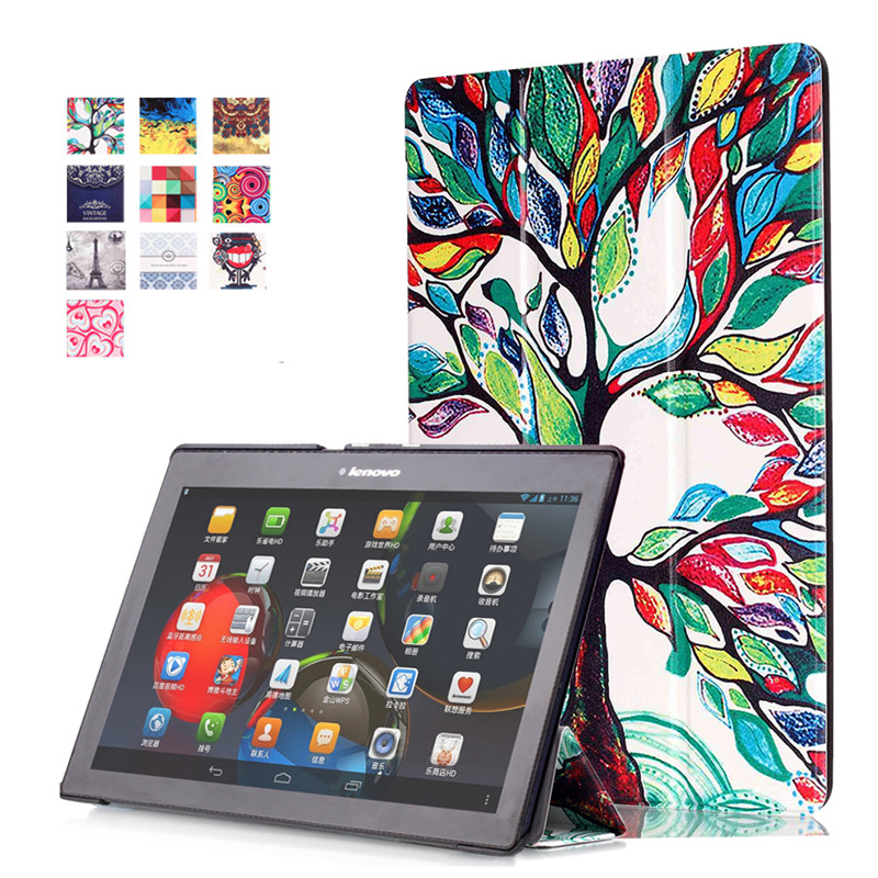 Case For Lenovo For Lenovo Tab2 A10-70/A10-30 Tab3 10 Plus Tab 3 10 Business TB-X103F TB2-X30F/X70F Stand Tablet Cover+Film+Pen