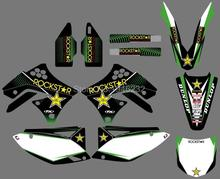 0068 Star New Style TEAM GRAPHICS&BACKGROUNDS DECALS STICKERS Kits for Kawasaki KX250F KXF250 2009 2010 2011 2012