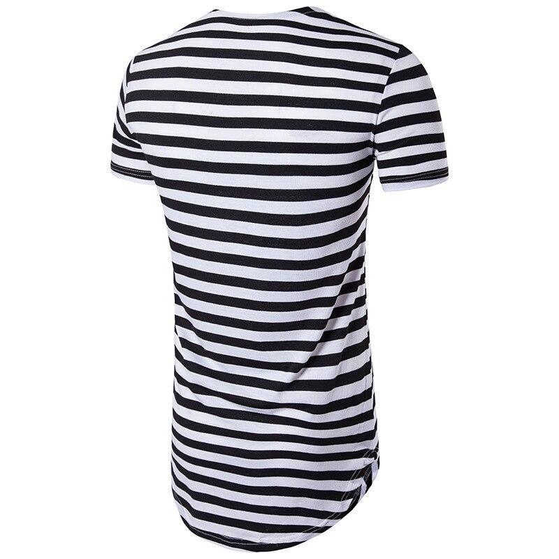 9b303e240  BIG SALE  CHEAP 2019 striped long t shirt Men Hip Hop Black t-shirt  Longline Extra Long tee shirt for male Tops Over Size Streetwear tshirt