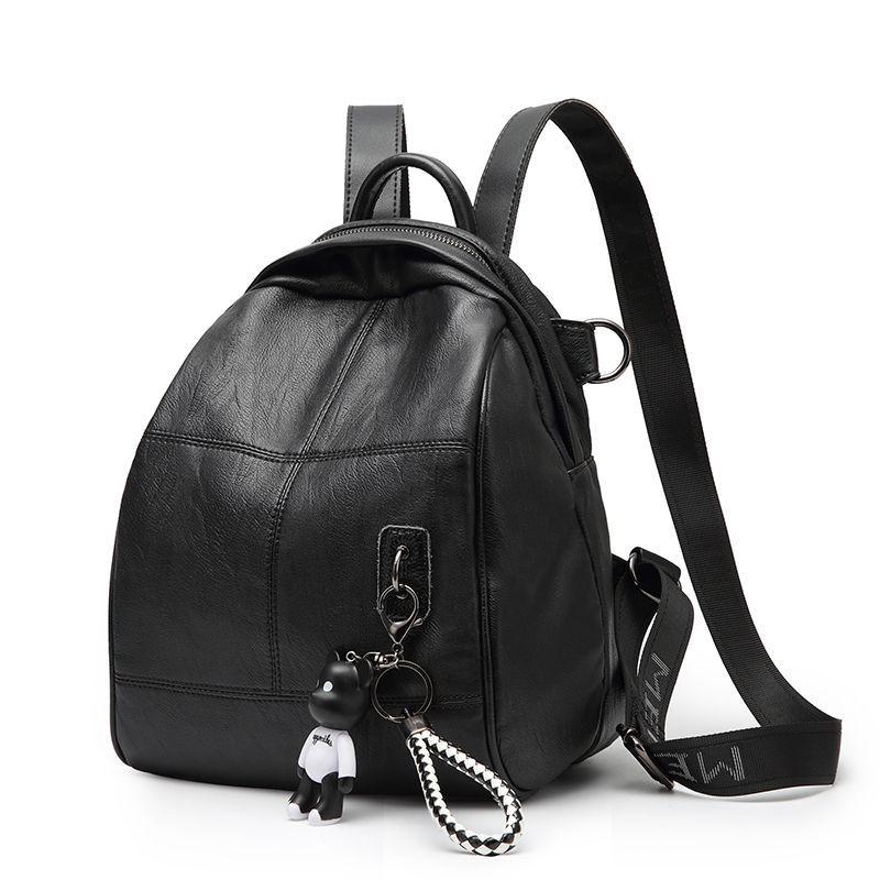 Fashion Women's Genuine Leather Backpack mochilas mujer 2018 Woman Knapsack Backpacks Ladies Shoulder Travel Laptop Bags C222